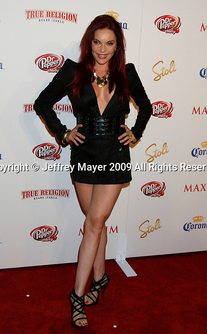 SANTA MONICA, CA. - May 13: Carmit Bachar  arrives at the Maxim's 10th Annual Hot 100 Celebration at The Barker Hangar on May 13, 2009 in Santa Monica, California.