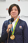 Haruka Tachimoto (JPN), <br /> AUGUST 15, 2016 - Judo : <br /> Japaese Judo medalist attend a media conference at Narita Airport in Chiba, Japan. Japanese Judo players won 3 gold medals, 1 silver medal and 8 bronze medals in the Rio 2016 Olympic Games. (Photo by AFLO SPORT)