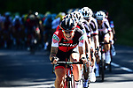 The peloton including Nicolas Roche (IRL) BMC Racing Team in action during Stage 14 of the 104th edition of the Tour de France 2017, running 181.5km from Blagnac to Rodez, France. 15th July 2017.<br /> Picture: ASO/Alex Broadway | Cyclefile<br /> <br /> <br /> All photos usage must carry mandatory copyright credit (&copy; Cyclefile | ASO/Alex Broadway)