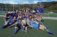 St Bernard's College team photo at Maidstone Park in Upper Hutt, Wellington, New Zealand on Thursday, 7 September 2017. Photo: Dave Lintott / lintottphoto.co.nz