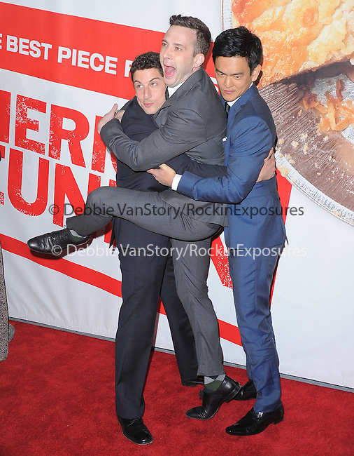 Jason Biggs ,Eddie Kaye Thomas and John Cho at The Universal Pictures' L.A. Premiere of American Reunion held at The Grauman's Chinese Theatre in Hollywood, California on March 19,2012                                                                               © 2012 Hollywood Press Agency