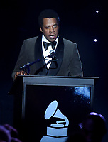 NEW YORK - JANUARY 27: Jay-Z accepts the President's Merit Award at the 2018 Clive Davis Pre-Grammy Gala at the Sheraton New York Times Square on January 27, 2018 in New York, New York. (Photo by Frank Micelotta/PictureGroup)