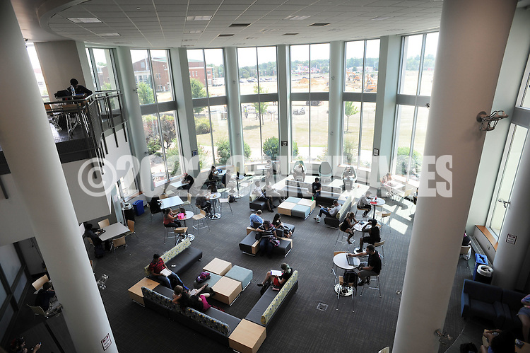 Students congregate in Laurel Hall at Rowan College of Burlington County Wednesday August 31, 2016 in Mount Laurel, New Jersey.  (Photo by William Thomas Cain)