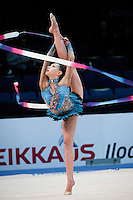 February 27, 2016 - Espoo, Finland - EVITA GRISKENAS of USA takes 21st place in All Around final at Espoo World Cup 2016.
