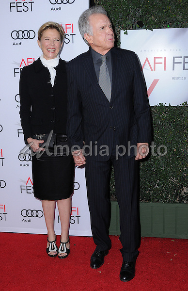 "10 November 2016 - Hollywood, California. Annette Bening, Warren Beatty. AFI FEST 2016 - Opening Night Premiere Of ""Rules Don't Apply"" held at TCL Chinese Theater. Photo Credit: Birdie Thompson/AdMedia"
