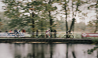 speeding along the lake<br /> <br /> Elite Men's race<br /> Superprestige Gavere / Belgium 2017