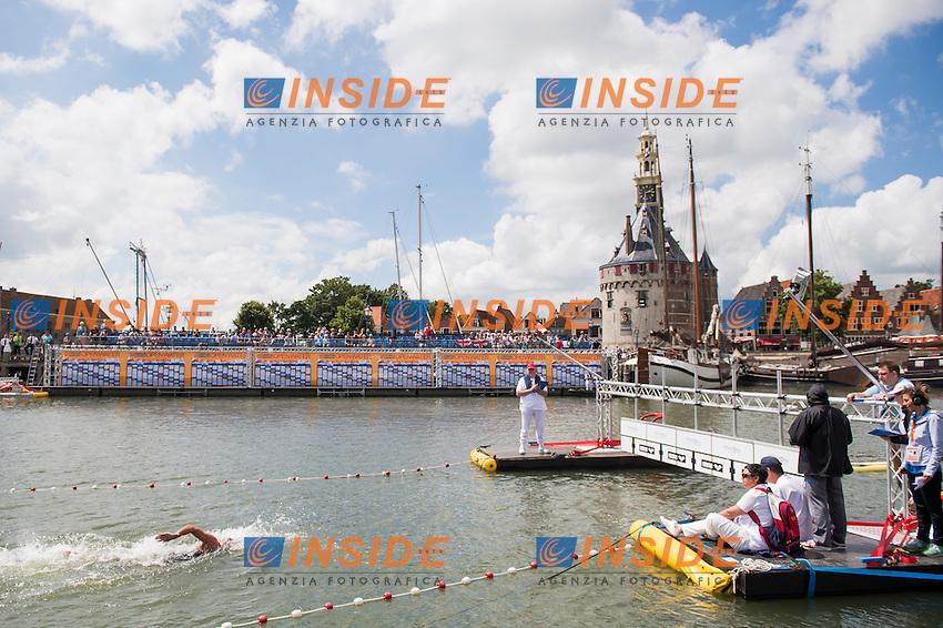 Finish Line<br /> Hoorn, Netherlands <br /> LEN 2016 European Open Water Swimming Championships <br /> Open Water Swimming<br /> Men's 5km<br /> Day 02 12-07-2016<br /> Photo Giorgio Perottino/Deepbluemedia/Insidefoto