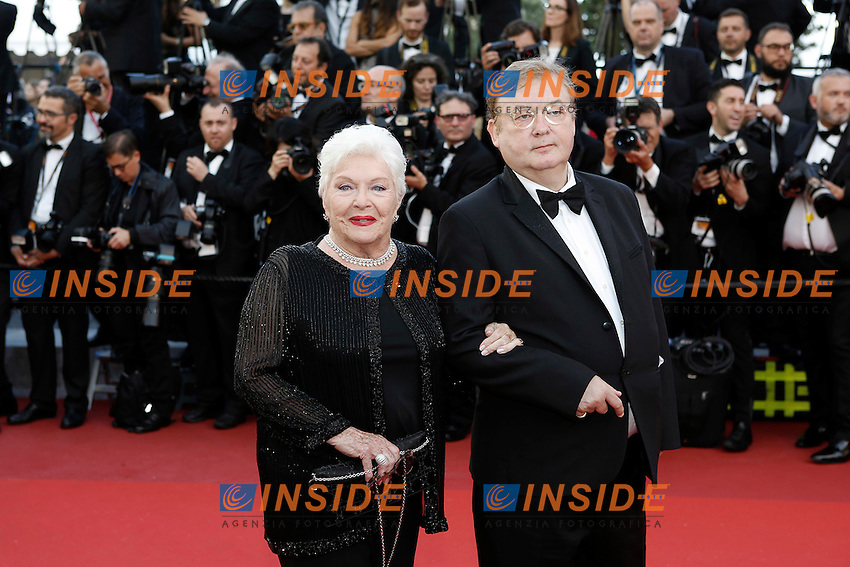 Line Renaud, Dominique Besnehard<br /> Festival di Cannes 2016 <br /> Foto Panoramic / Insidefoto