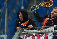 27th February 2020; St Jakob Park, Basel, Switzerland; UEFA Europa League Football, FC Basel versus APOEL Nicosia; APOEL Nicosia fans cheer on their team