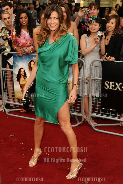 "Presenter, Lisa Snowdon.arrives for the ""Sex and the City 2"" premiere at the Odeon Leicester Square, London. 27/05/2010  Picture by Steve Vas/Featureflash"