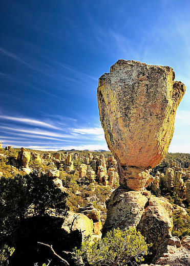 Balanced Rock formation in Chiricahua National Monument, Arizona