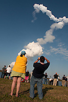 Final launch for Discovery, the world's most traveled spaceship, Kennedy Space Center, Cape Canaveral, Florida, USA, Feb. 24, 2011.<br /> First launched in 1984, Discovery will be the first  space shuttle to retire from NASA's fleet. Photo by Debi Pittman Wilkey<br /> Discovery will be the first  space shuttle to retire from NASA's fleet, first launched in 1984