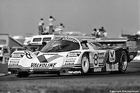 DAYTONA BEACH, FL - FEBRUARY 3: Bob Wollek of France drives the race-winning Preston Henn Porsche 962 104 on the infield road course during the 24 Hours of Daytona on February 3, 1985, at the Daytona International Speedway in Daytona Beach, Florida. (Photo by Bob Harmeyer)