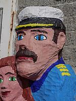 Skulptur beim Nord-Ost Hafen, Insel Helgoland, Schleswig-Holstein, Deutschland, Europa<br /> Sculpture at North-East port, Helgoland island, district Pinneberg, Schleswig-Holstein, Germany, Europe