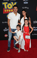 "HOLLYWOOD, CA - JUNE 11: Gia Francesca Lopez, Mario Lopez, Dominic Lopez, Courtney Mazza, at The Premiere Of Disney And Pixar's ""Toy Story 4"" at El Capitan theatre in Hollywood, California on June 11, 2019. <br /> CAP/MPIFS<br /> ©MPIFS/Capital Pictures"