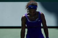 KEY BISCAYNE, FL - MARCH22: Serena Williams competes during Day 4 of the Sony Ericsson Open in Miami on March 22nd, 2012 in Key Biscayne, FL. ( Photo by Chaz Niell/Media Punch Inc.)