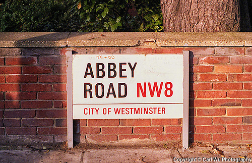 Abbey Road Sign in City Of Westminster, England