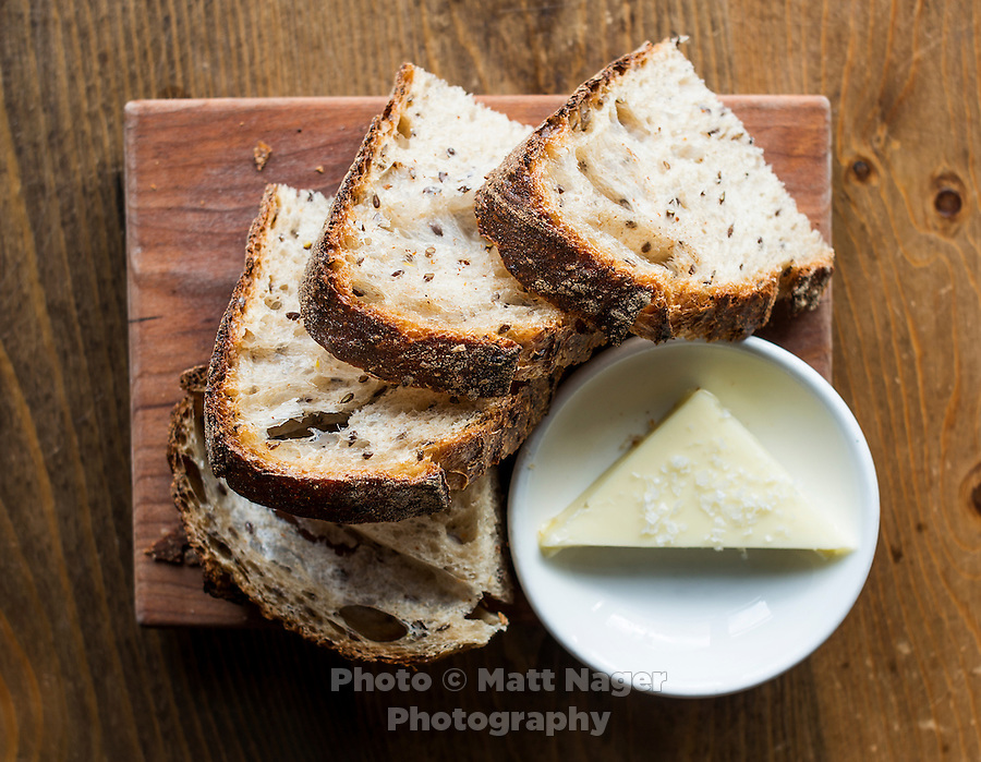 Sliced bread at The Kitchen in Boulder, Colorado, Friday, March 13, 2015. The Kitchen is a &quot;farm-to-table&quot; restaurant serving good food at decent prices. <br /> <br /> Photo by Matt Nager