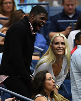FLUSHING NY- SEPTEMBER 08: Lindsey Vonn and P.K. Subban are seen watching Rafael Nadal Vs Daniil Medvedev during the men's finals on Arthur Ashe Stadium at the USTA Billie Jean King National Tennis Center on September 8, 2019 in Flushing Queens. <br /> CAP/MPI04<br /> ©MPI04/Capital Pictures