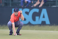 Harry Ellis (AM)(ENG) on the 8th green during Friday's Round 2 of the 118th U.S. Open Championship 2018, held at Shinnecock Hills Club, Southampton, New Jersey, USA. 15th June 2018.<br /> Picture: Eoin Clarke | Golffile<br /> <br /> <br /> All photos usage must carry mandatory copyright credit (&copy; Golffile | Eoin Clarke)