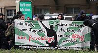 Nazi-Demo in Leipzig am 16.10.2010.Im Bild: Plakate der Rechtsradikalen in Leipzig am HBF.. Foto: Karoline Maria Keybe , 01577 7729355, karoline@karoline-maria.com, Steuernummer: 231/238/07774..Deutsche Bank, Konto-Nr. 1272228, BLZ 86070024.Keine Umsatzsteuerpflicht nach Kleinunternehmerregelung § 19 Absatz 1 UStG.
