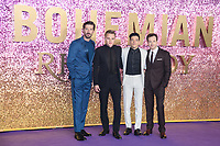 "LONDON, UK. October 23, 2018: Gwilym Lee, Ben Hardy, Rami Malek & Joe Mazzello at the world premiere of ""Bohemian Rhapsody"" at Wembley Arena, London.<br /> Picture: Steve Vas/Featureflash"