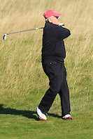 Marvin Shanken (AM) on the 11th fairway during Round 2 of the 2015 Alfred Dunhill Links Championship at Kingsbarns in Scotland on 2/10/15.<br /> Picture: Thos Caffrey | Golffile