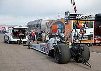 Feb 26, 2017; Chandler, AZ, USA; NHRA top fuel driver Antron Brown during the Arizona Nationals at Wild Horse Pass Motorsports Park. Mandatory Credit: Mark J. Rebilas-USA TODAY Sports