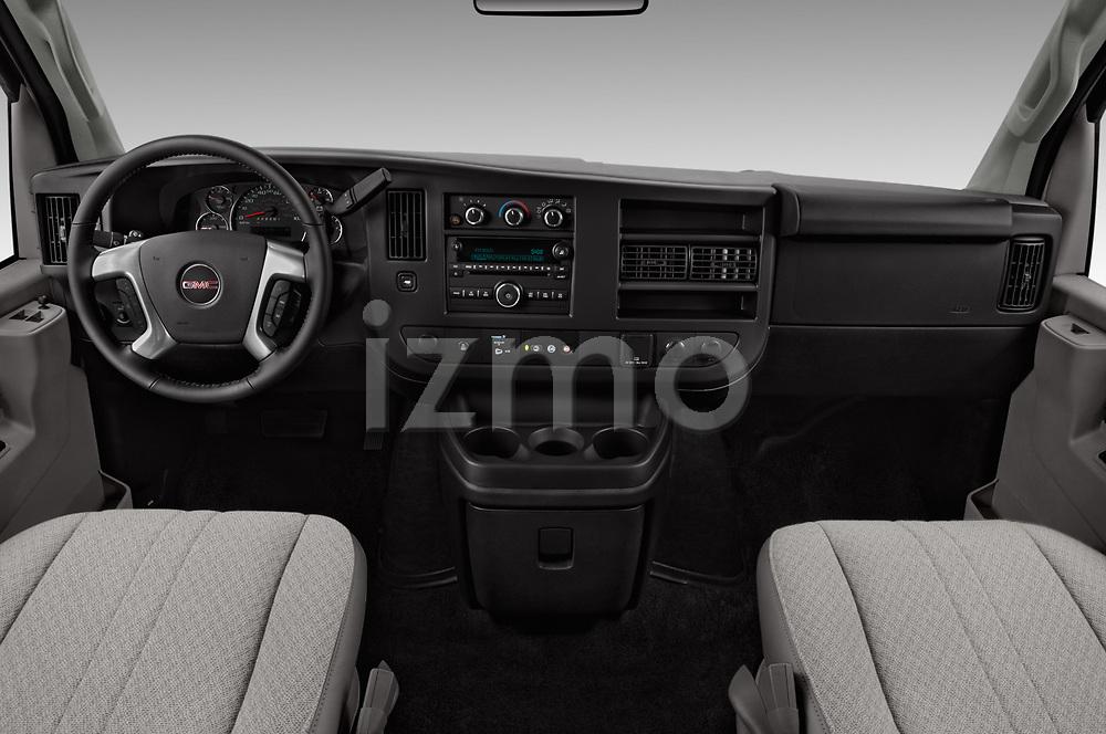 Stock photo of straight dashboard view of 2017 GMC Savana-Passenger 3500-LS-Ext 5 Door Passenger Van Dashboard