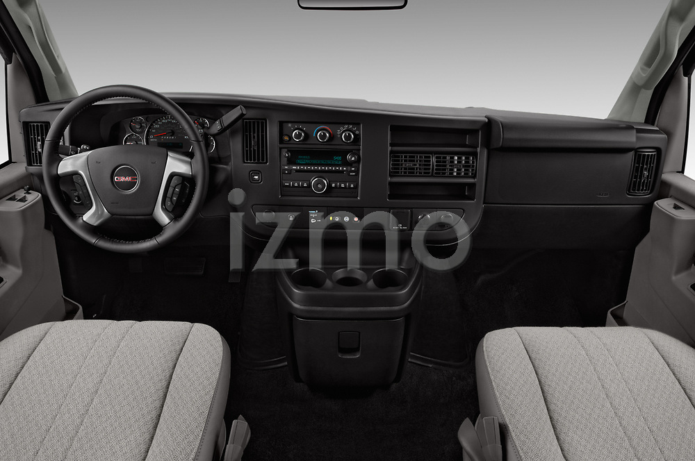 Stock photo of straight dashboard view of 2018 GMC Savana-Passenger 3500-LS-Ext 5 Door Passenger Van Dashboard