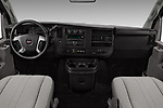 Stock photo of straight dashboard view of 2017 GMC Savana-Passenger 3500-LS-Ext 5 Door Passenger Van Dashboard