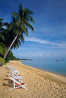 Thailand, island Ko Samui, Maenam Beach - quiet beach in the north