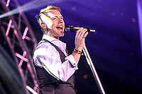 Ronan Keating performs during the after party of the Graham Wylie Foundation- Have A Heart- golf day with Lee Westwood and Ronan Keating at Gateshead Hilton England on 10 September 2018. Photo by Thomas Gadd.
