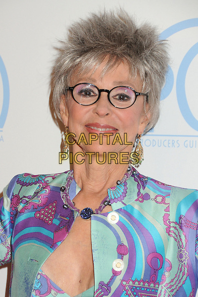 Rita Moreno.23rd Annual Producers Guild Awards held at the Beverly Hilton Hotel, - Beverly Hills, California, USA, .21st January 2012..portrait headshot glasses blue pucci print .CAP/ADM/BP.©Byron Purvis/AdMedia/Capital Pictures.
