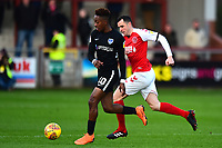 Portsmouth's Adam May competes with Fleetwood Town's Dean Marney<br /> <br /> Photographer Richard Martin-Roberts/CameraSport<br /> <br /> The EFL Sky Bet League One - Fleetwood Town v Portsmouth - Saturday 29th December 2018 - Highbury Stadium - Fleetwood<br /> <br /> World Copyright &not;&copy; 2018 CameraSport. All rights reserved. 43 Linden Ave. Countesthorpe. Leicester. England. LE8 5PG - Tel: +44 (0) 116 277 4147 - admin@camerasport.com - www.camerasport.com