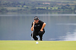 Shane Lowry lines up his putt on the 4th green during the Final Day of the 3 Irish Open at the Killarney Golf & Fishing Club, 1st August 2010..(Picture Eoin Clarke/www.golffile.ie)