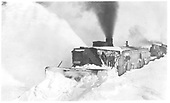 D&amp;RGW OM rotary snow plow working with two engines.<br /> D&amp;RGW  MP 295 Big Horn Section House, CO  ca 1932