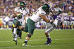 010313-- Oregon Ducks running back De'Anthony Thomas follows his blocker, lineman Hroniss Grasu, en-route for his second touchdown in the first half against Kansas State Wildcats in the first half of the Fiesta Bowl..Photo by Jaime Valdez