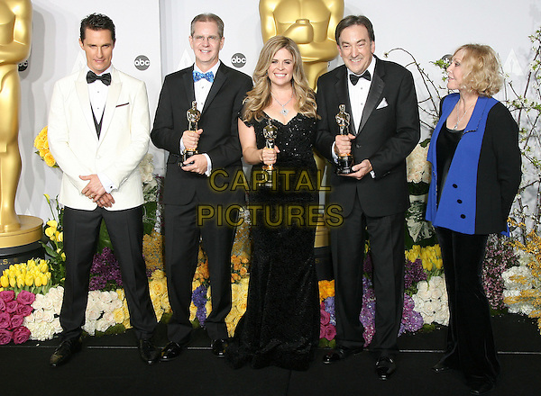 02 March 2014 - Hollywood, California - Peter Del Vecho, Jennifer Lee, Chris Buck, Kim Novak. 86th Annual Academy Awards held at the Dolby Theatre at Hollywood &amp; Highland Center. <br /> CAP/ADM<br /> &copy;AdMedia/Capital Pictures