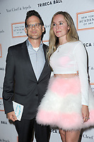 www.acepixs.com<br /> April 3, 2017  New York City<br /> <br /> Jason Newsted and Nicole Leigh Smith attending the 2017 Tribeca Ball at the New York Academy of Art on April 3, 2017 in New York City.<br /> <br /> Credit: Kristin Callahan/ACE Pictures<br /> <br /> <br /> Tel: 646 769 0430<br /> Email: info@acepixs.com