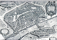 Frankfurt: Engraving, 1628--Bird's -eye view. Matthaeus Merianus, Engraver. Reference only.