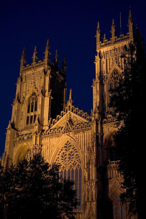 York Minster, England's finest Gothic church in York, England