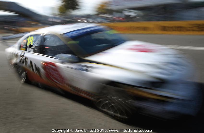 James Moffatt during practice. V8 Supercars - ITM 400 at Hamilton Street Circuit, Hamilton, New Zealand on Friday, 15 April 2011. Photo: Dave Lintott / lintottphoto.co.nz