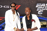 WWW.BLUESTAR-IMAGES.COM Rapper 2 Chainz and actor Tyrese Gibson Gibson arrive at the 'Fast & The Furious 6' - Los Angeles Premiere at Gibson Amphitheatre on May 21, 2013 in Universal City, California..Photo: BlueStar Images/OIC jbm1005  +44 (0)208 445 8588 /©NortePhoto/nortephoto@gmail.com<br />
