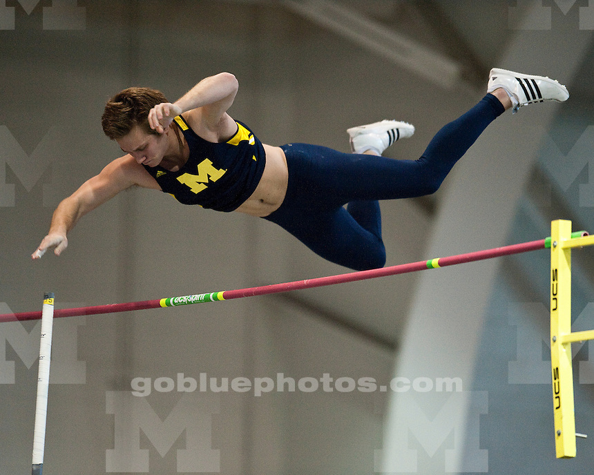The University of Michigan men's track and field team participates in the Eastern Michigan Invitational in Ypsilanti, Mich. on January 8, 2011.