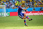 Keisuke Honda (JPN), <br /> JUNE 24, 2014 - Football /Soccer : <br /> 2014 FIFA World Cup Brazil <br /> Group Match -Group C- <br /> between Japan 1-4 Colombia <br /> at Arena Pantanal, Cuiaba, Brazil. <br /> (Photo by YUTAKA/AFLO SPORT)