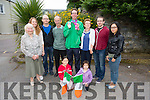 Brendan O'Connell who won gold in Special Olympics at the Meadowlands Hotel on Tuesday pictured with family  L-r Bridie O'Connell, Clare O'Connell, Mike O'Connell Jr, Mike O'Connell Snr, Brendan O'Connell, Elizabeth O'Connell, James O'Connell,Jack O'Connell, Front Aishling O'Connell and Aoife O'Connell