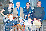 Musicians who performed at the Trad Fe?ile festivale in Athea on Saturday were front l-r Kevin O'Neill, Killian Finucane and Kieran O'Carroll  back l-r Tara Finucane, Pat Brosnan who was MC for the night, Kieran Flavin and Tim Sheehy..   Copyright Kerry's Eye 2008
