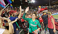 Portland, OR - Sunday Sept. 11, 2016: Fans, Michelle Betos during a regular season National Women's Soccer League (NWSL) match between the Portland Thorns FC and the Western New York Flash at Providence Park.