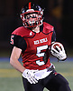Luke Lombardi #5 of Plainedge rushes for a gain during the Class III Long Island Championship against Half Hollow Hills West at Shuart Stadium in Hempstead on Saturday, Nov. 24, 2018.